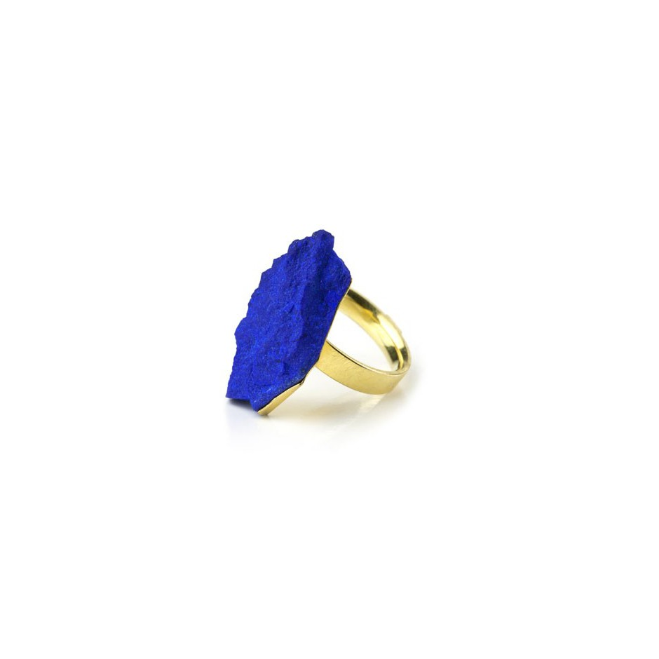 Michael Becker 05B - Ring - Yellow gold and lapis lazuli