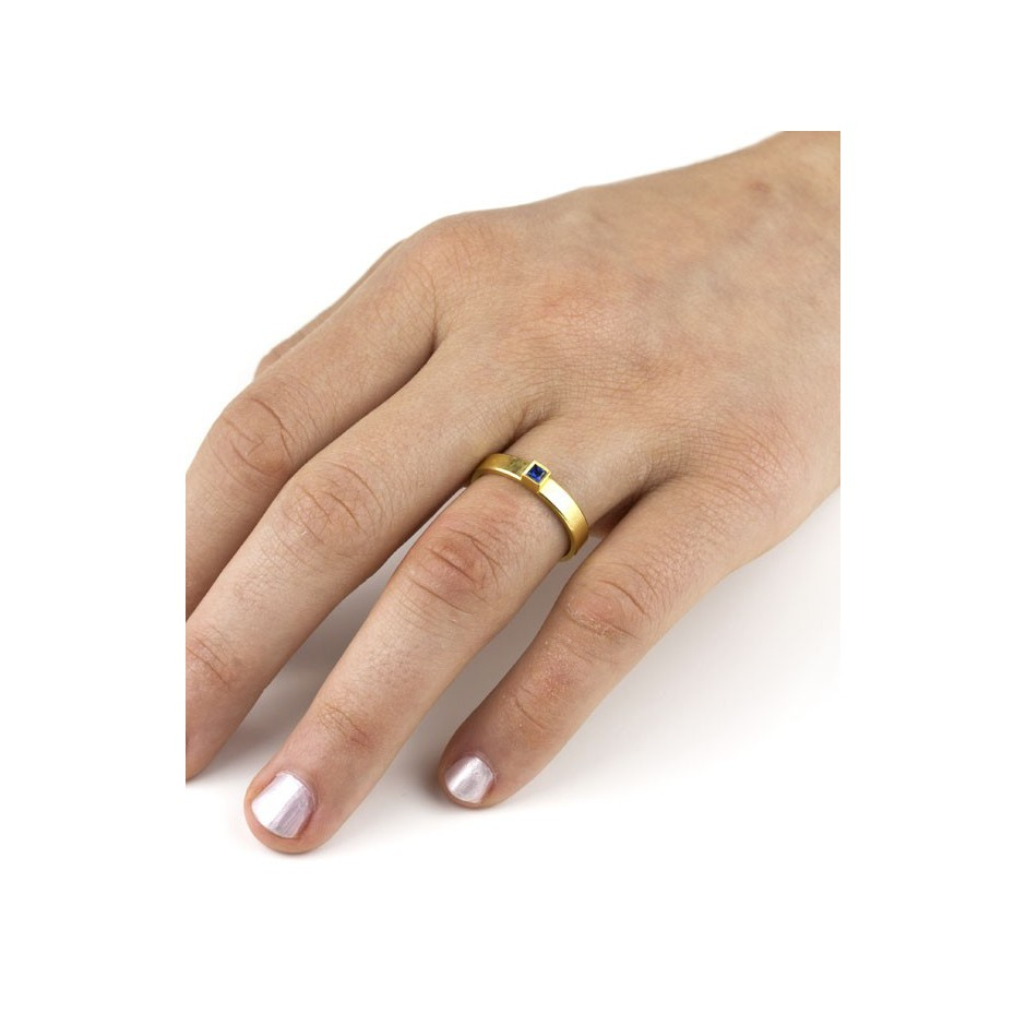Michael Becker 11D - Ring - Yellow gold and sapphire