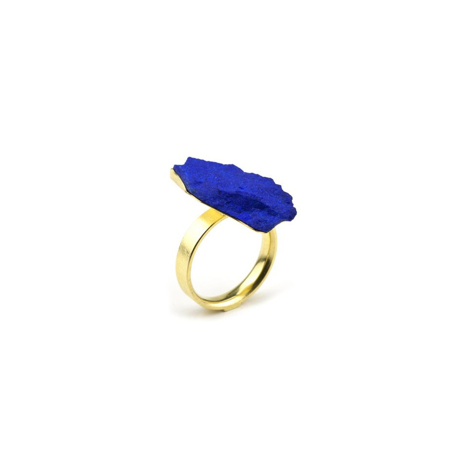 Michael Becker 05A - Ring - Yellow gold and lapis lazuli