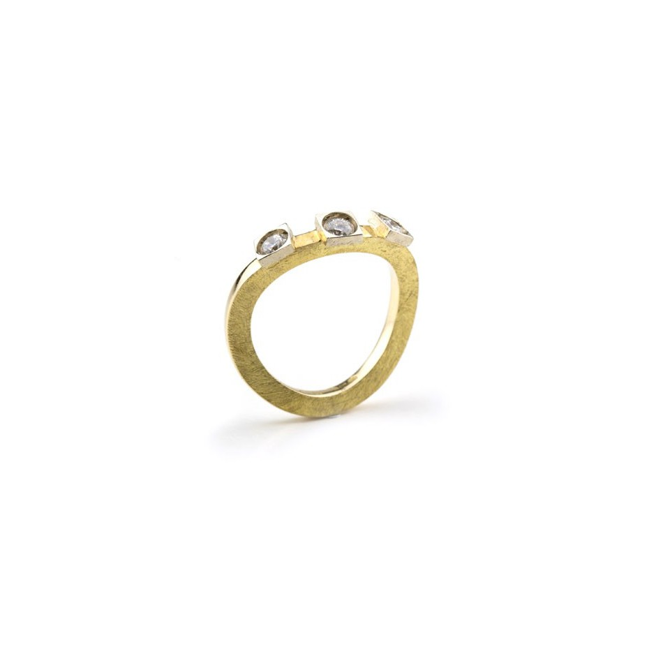 Josephine Wood 05A - Ring Gold and Diamond