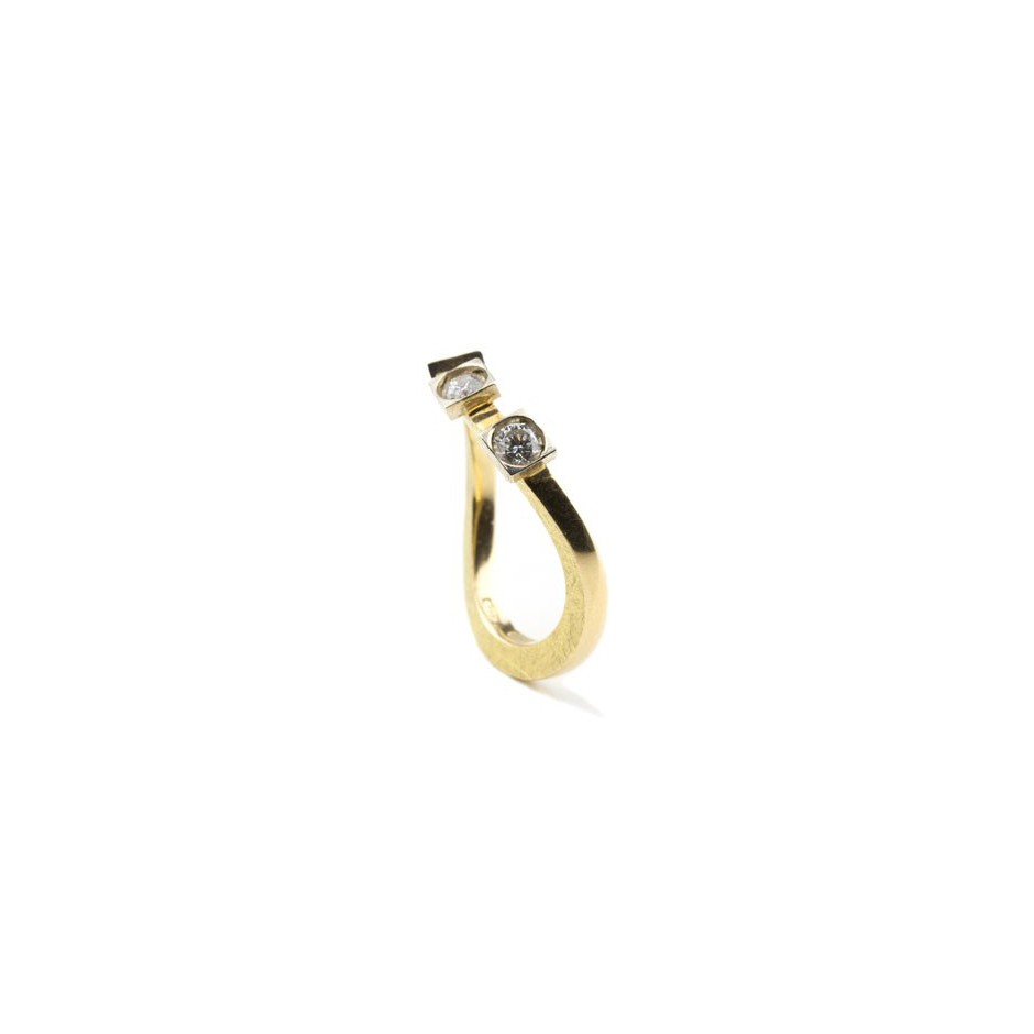 Josephine Wood 05AB- Ring Gold and Diamond