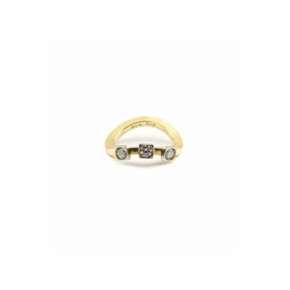 Josephine Wood 05C - Ring Gold and Diamond