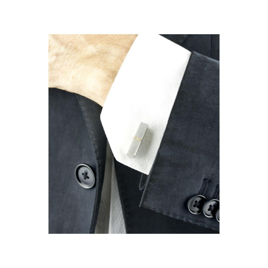 Carl Dau 08D - Limited edition – Cufflinks made of steel and silver.