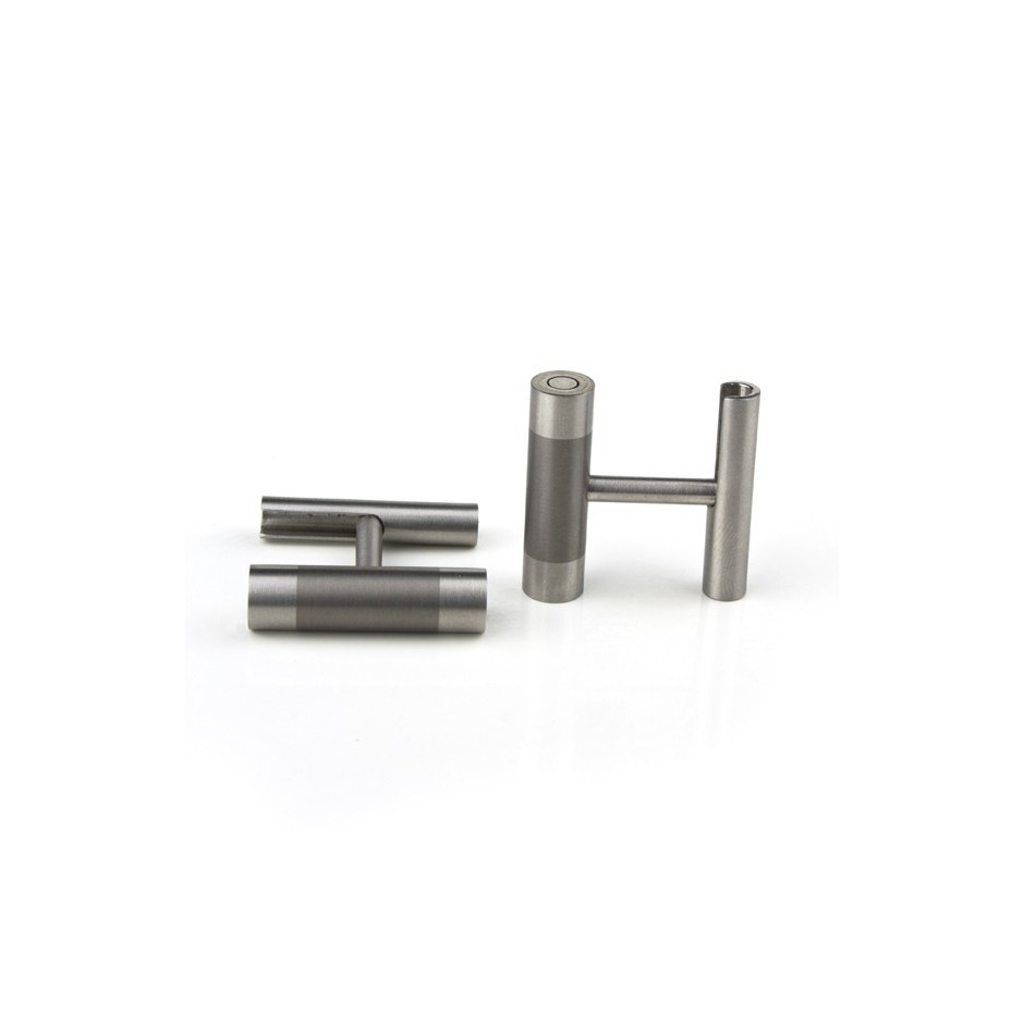 Carl Dau 10A - Limited edition – Cufflinks made of steel and titanium.