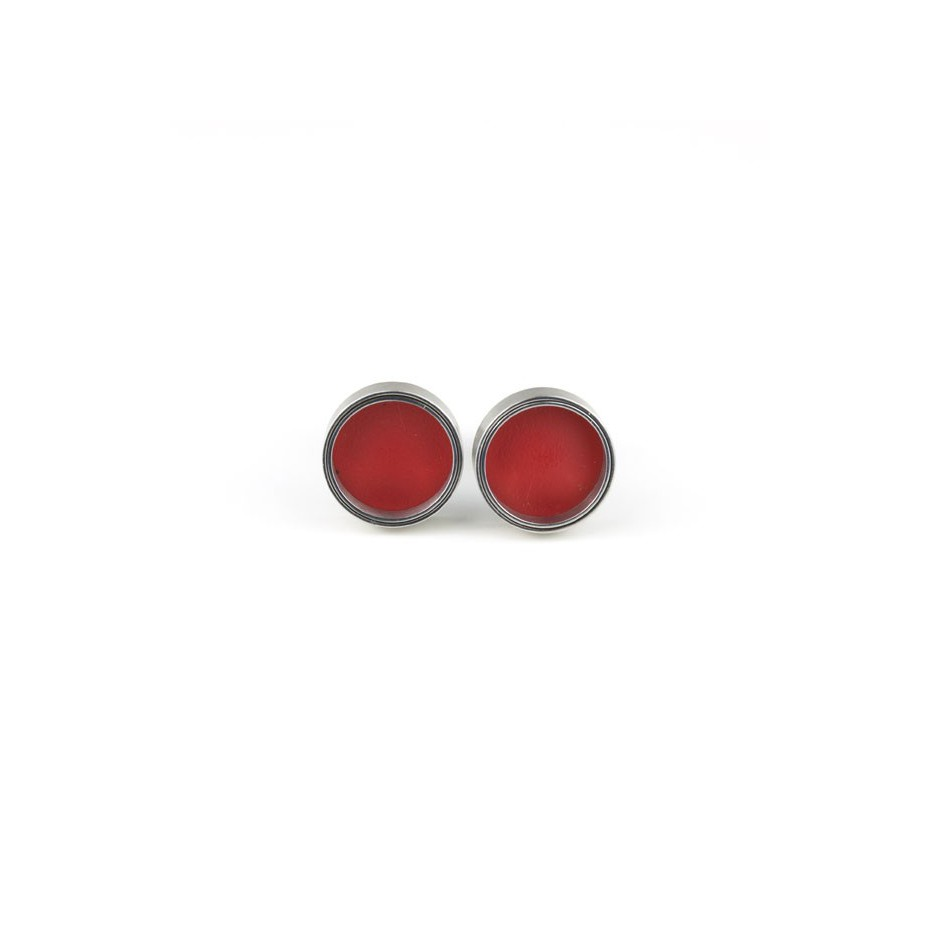 Carl Dau 14A - Limited edition – Cufflinks made of steel and red lacquer.