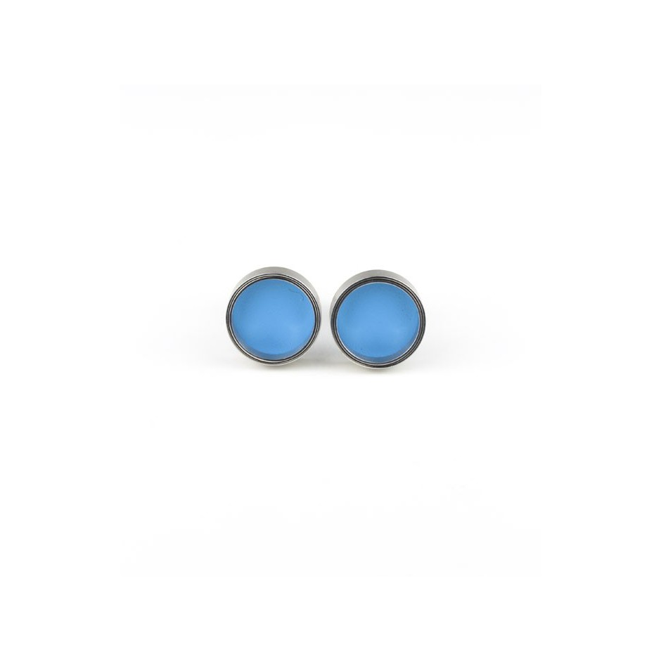 Carl Dau 15A - Limited edition – Cufflinks made of steel and light blue lacquer.