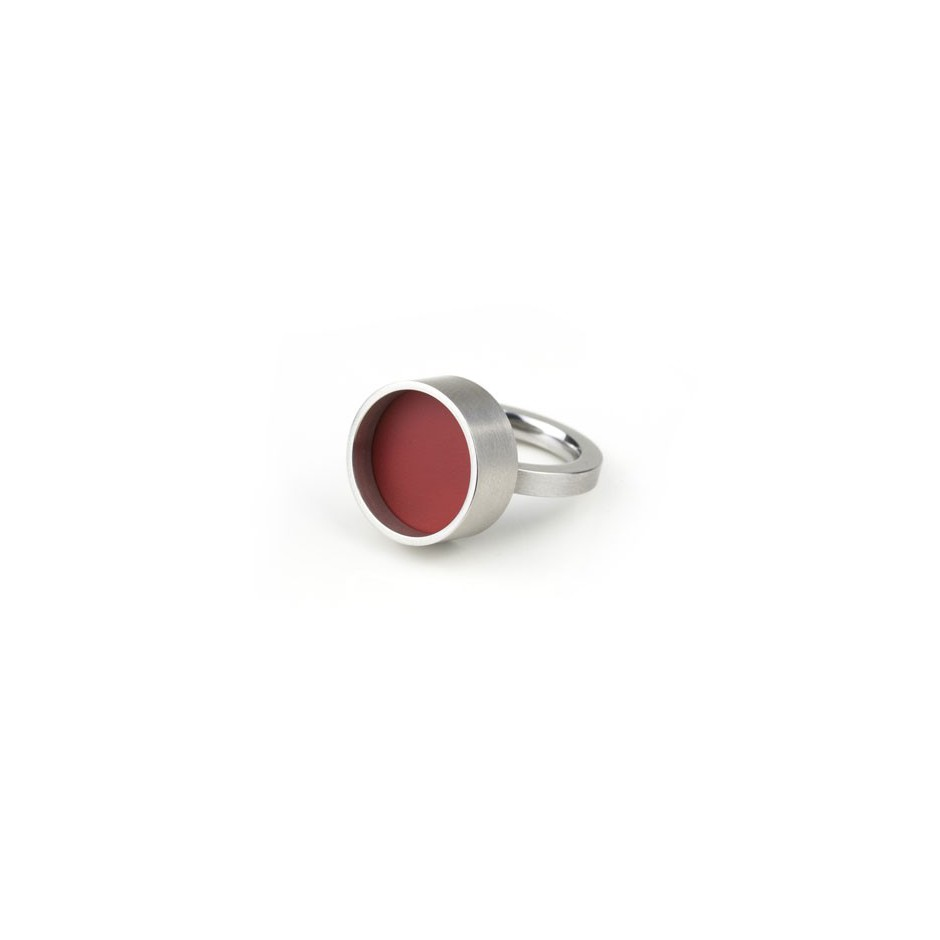 Carl Dau 17A - Ring – Limited edition – Ring made of steel and red lacquer.