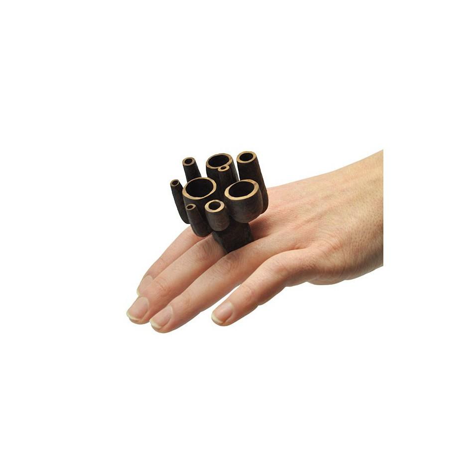 Mirizzi - Demattia 01D - Limited Edition - Ring made of Walnut wood.