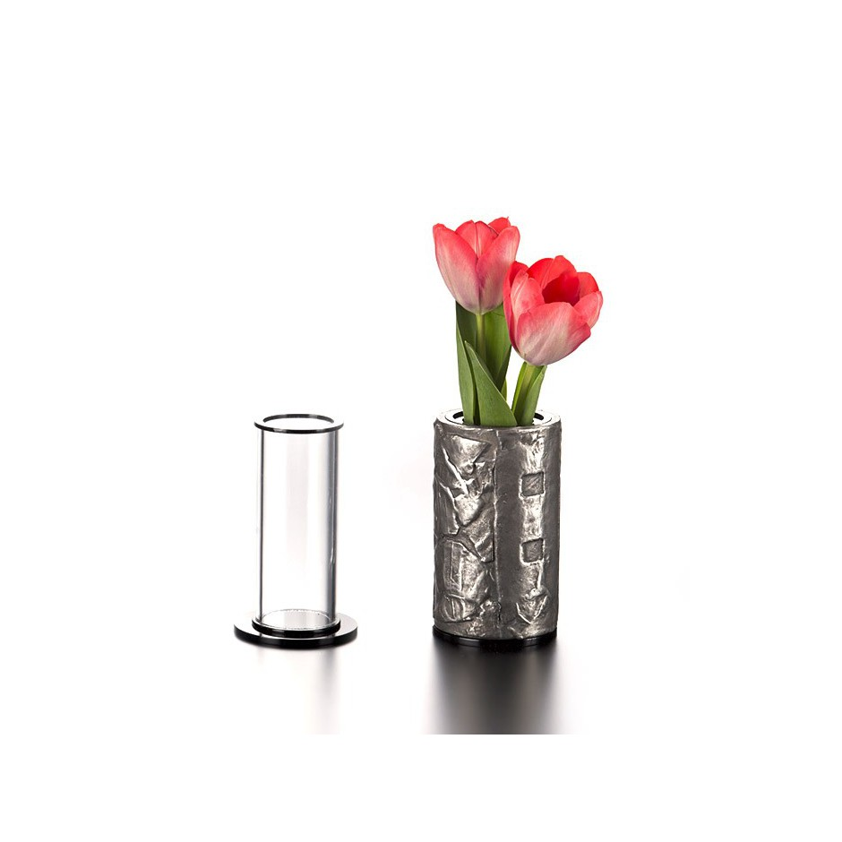 De Meo 14F - Armband / Vase - Unique piece - made of electroformed silver and polystyrene