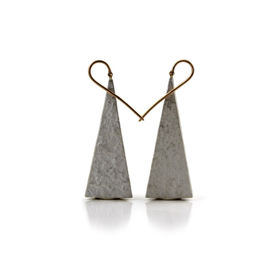 Marco Malasomma 40A - Earrings - Limited edition - rose gold and silver