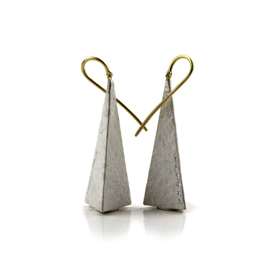 Marco Malasomma 40ME - Earrings - Limited edition - rose gold and silver