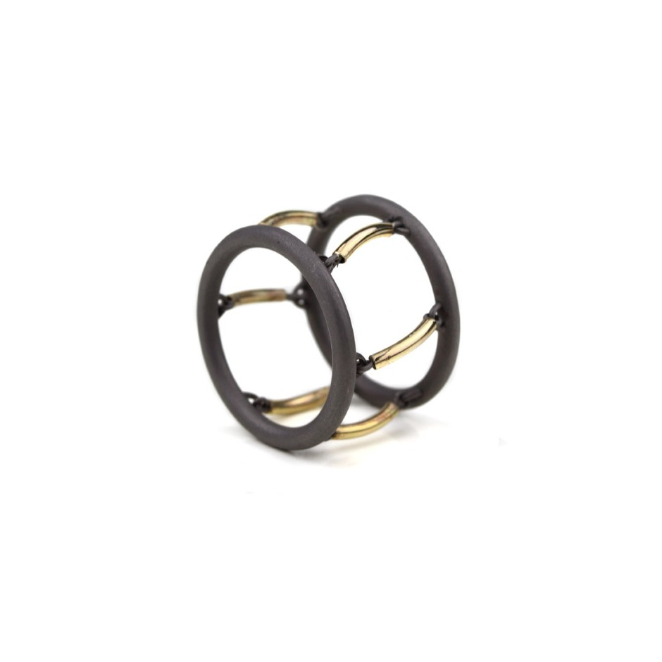 Jacek Byczewski 51A - Ring - Limited edition - Steel and yellow gold