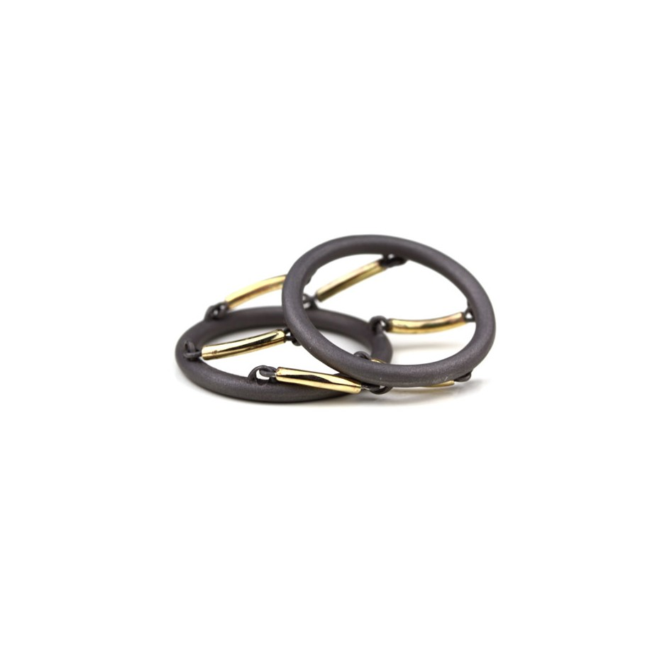Jacek Byczewski 51B - Ring - Limited edition - Steel and yellow gold