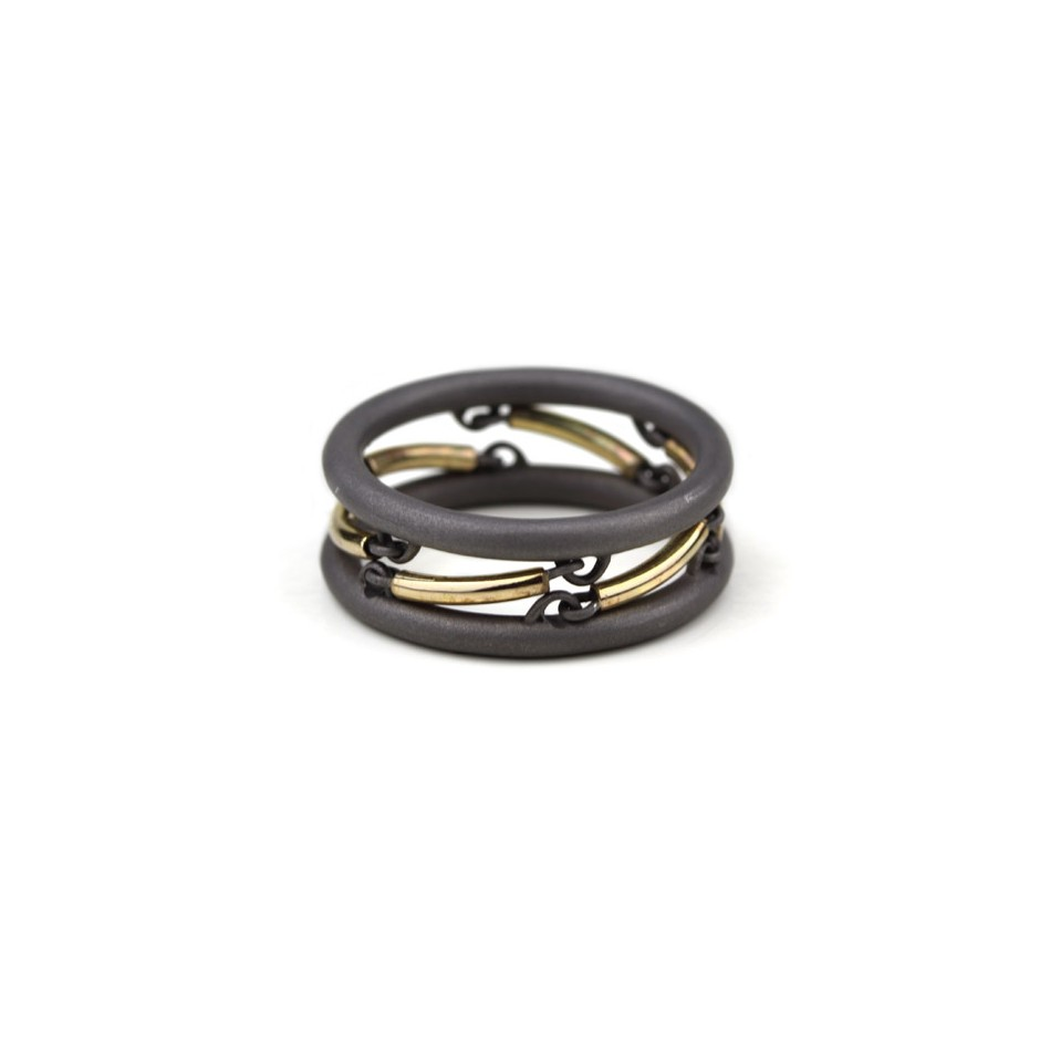 Jacek Byczewski 51C - Ring - Limited edition - Steel and yellow gold