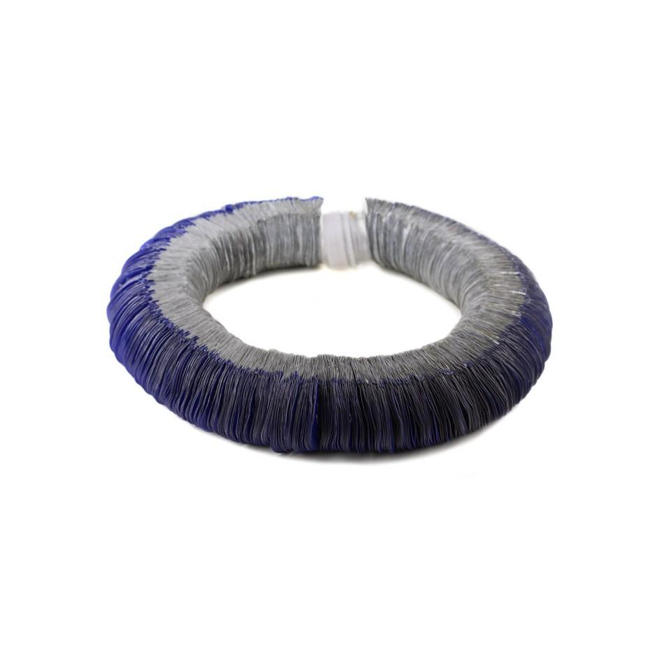 Margherita Marchioni 22A - Necklace - Unique piece - Plastic contact lense wrapping, bottle top, nylon thread