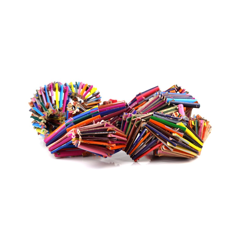 Margherita Marchioni 25B - Necklace - Unique piece - Colored pencils, nylon thread