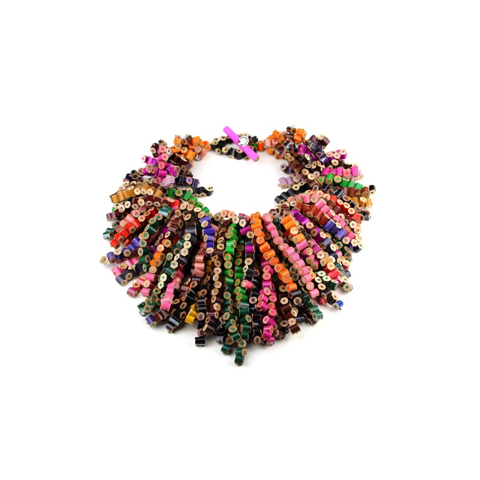 Margherita Marchioni 23AA - Necklace - Unique piece - Colored pencils, nylon thread