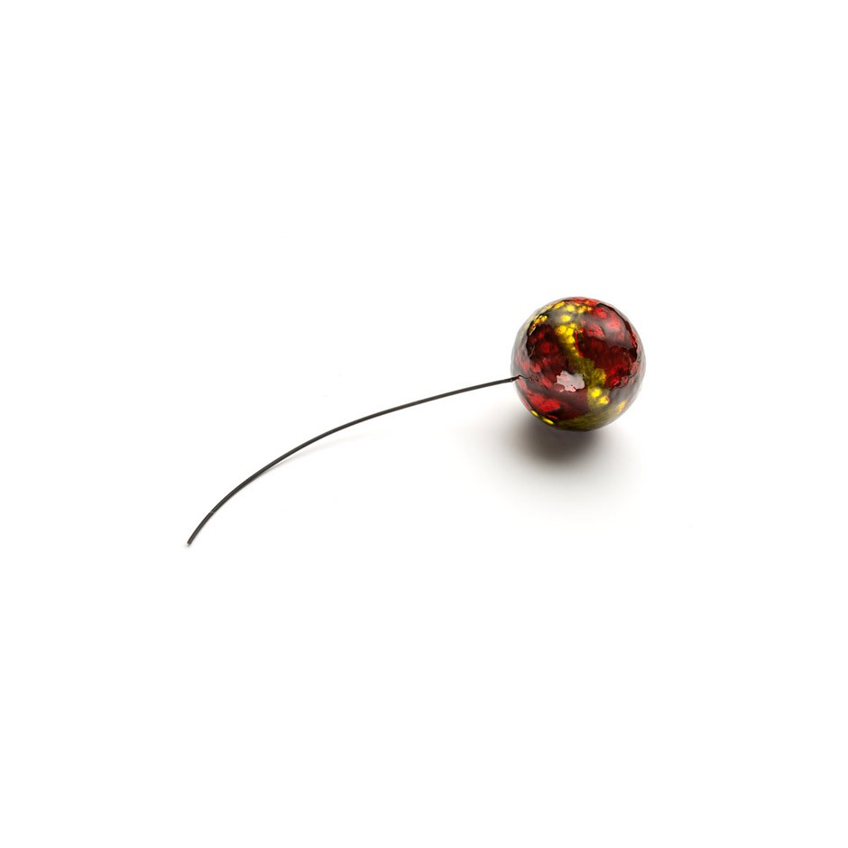 Corrado De Meo 16AA - Brooch - Unique piece - A balloon full of dreams - Polystyrene, acrylic, resin, steel, rubber, gold