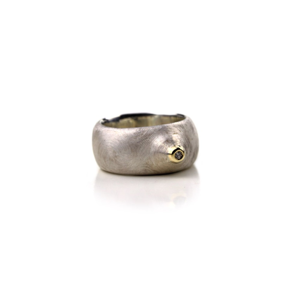 Bytomski & Bytomska 01C - Ring - Unique piece - Silver, gold and diamond