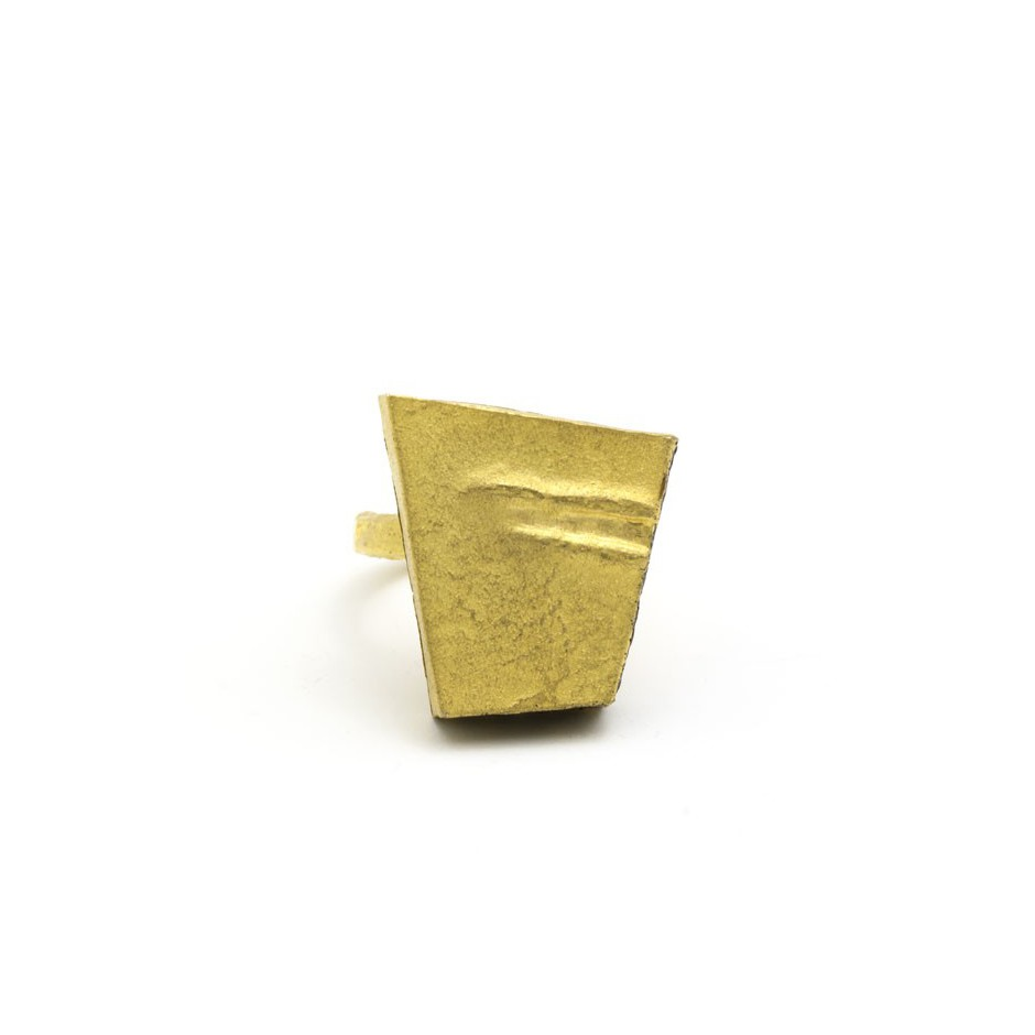 Adrean Bloomard 14B - Ring - Unique piece - Made of gold and black enamel