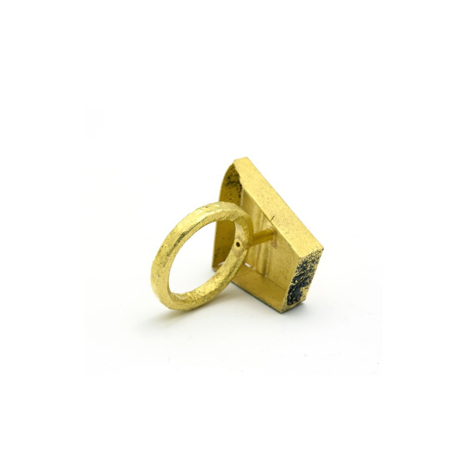 Adrean Bloomard 14C - Ring - Unique piece - Made of gold and black enamel