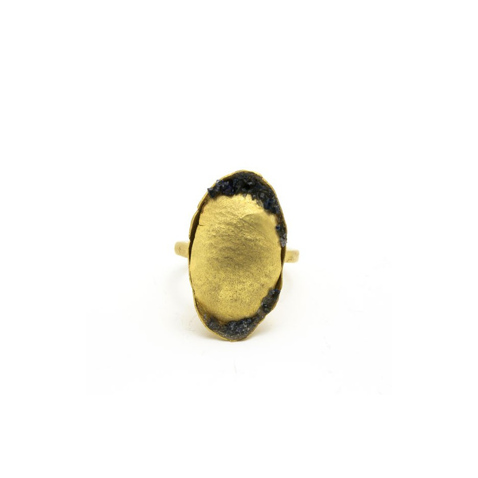 Adrean Bloomard 15B - Ring - Unique piece - Made of gold and crushed sapphires