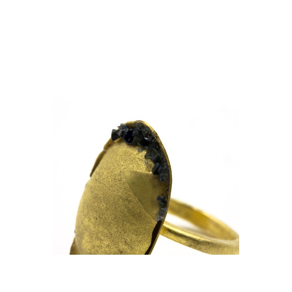 Adrean Bloomard 15D - Ring - Unique piece - Made of gold and crushed sapphires