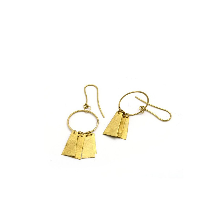 Adrean Bloomard 17A - Earrings - Unique piece - Made of 18K yellow gold