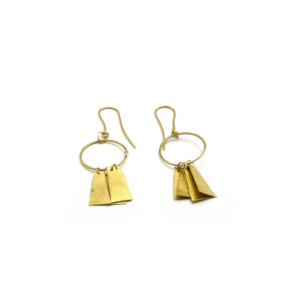 Adrean Bloomard 17B - Earrings - Unique piece - Made of 18K yellow gold
