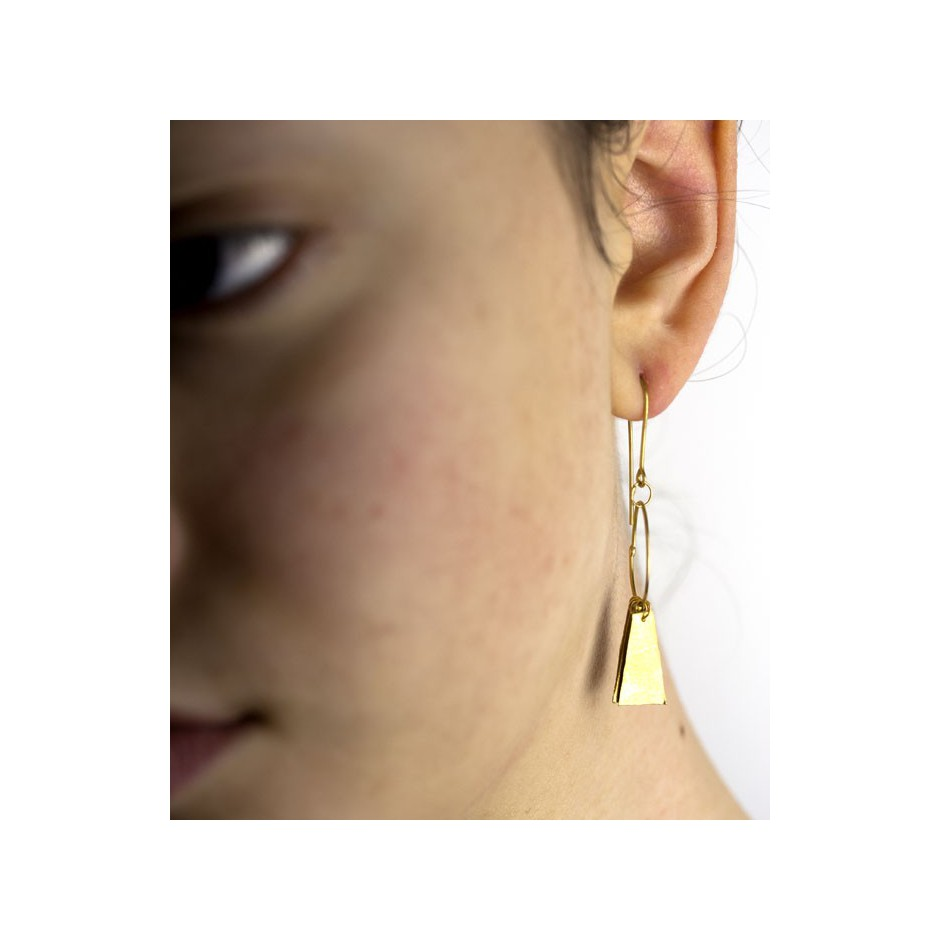 Adrean Bloomard 17D - Earrings - Unique piece - Made of 18K yellow gold