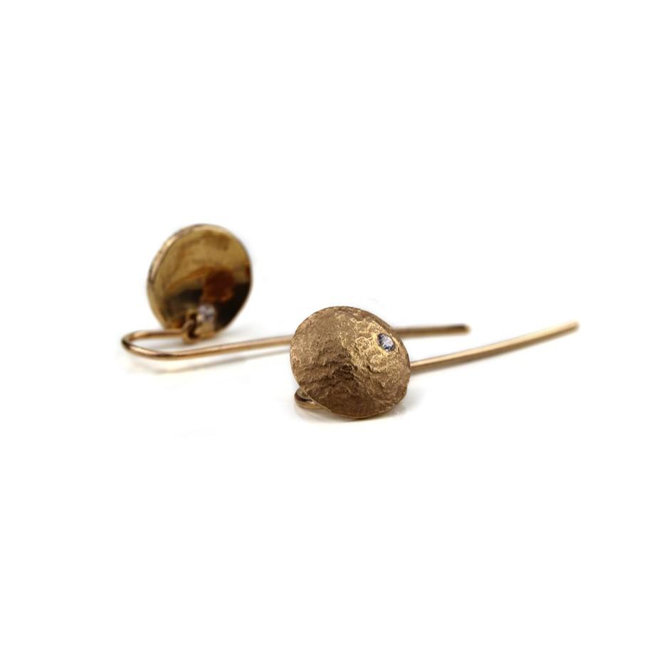 Marco Malasomma 46B - Earrings - Luna Piena - Rose gold and diamonds