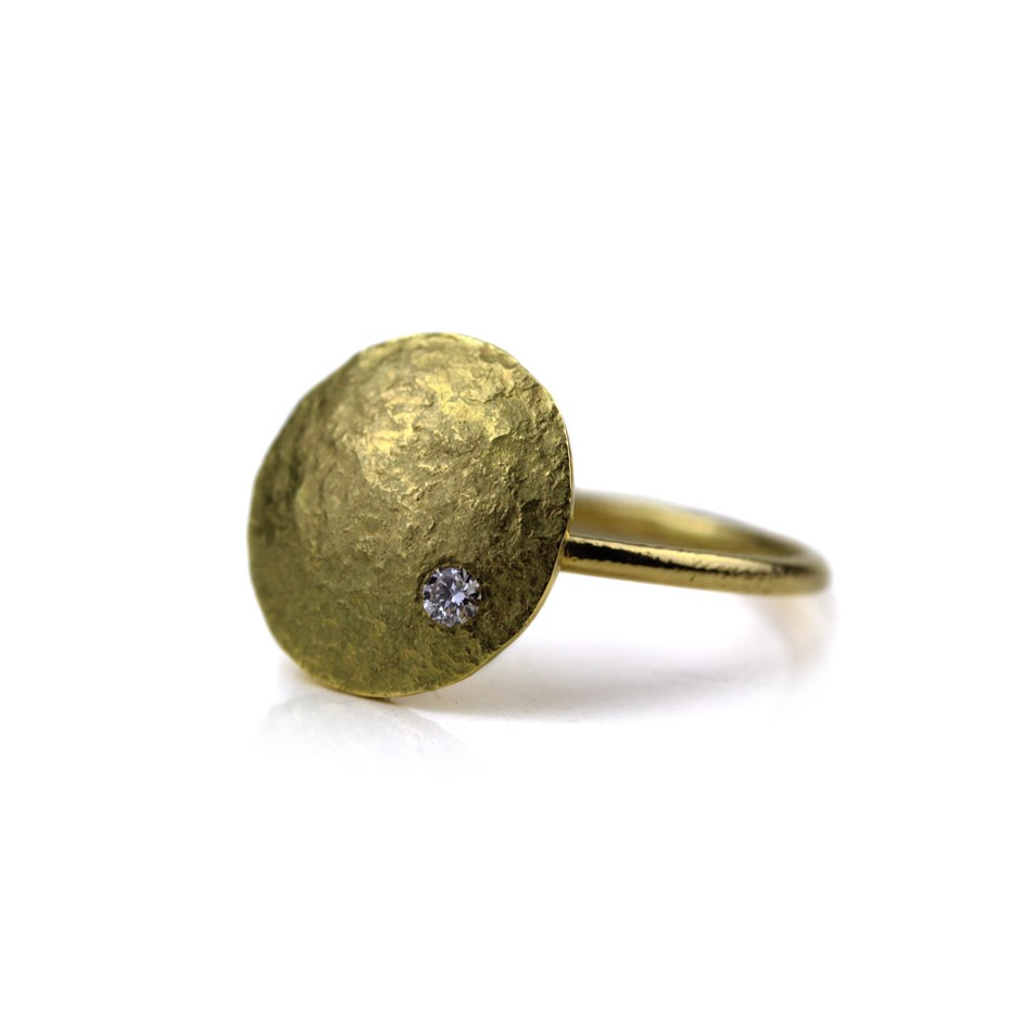 Marco Malasomma 48A - Ring - Luna Piena - Yellow gold and diamond