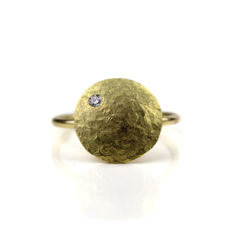 Marco Malasomma 48B - Ring - Luna Piena - Yellow gold and diamond