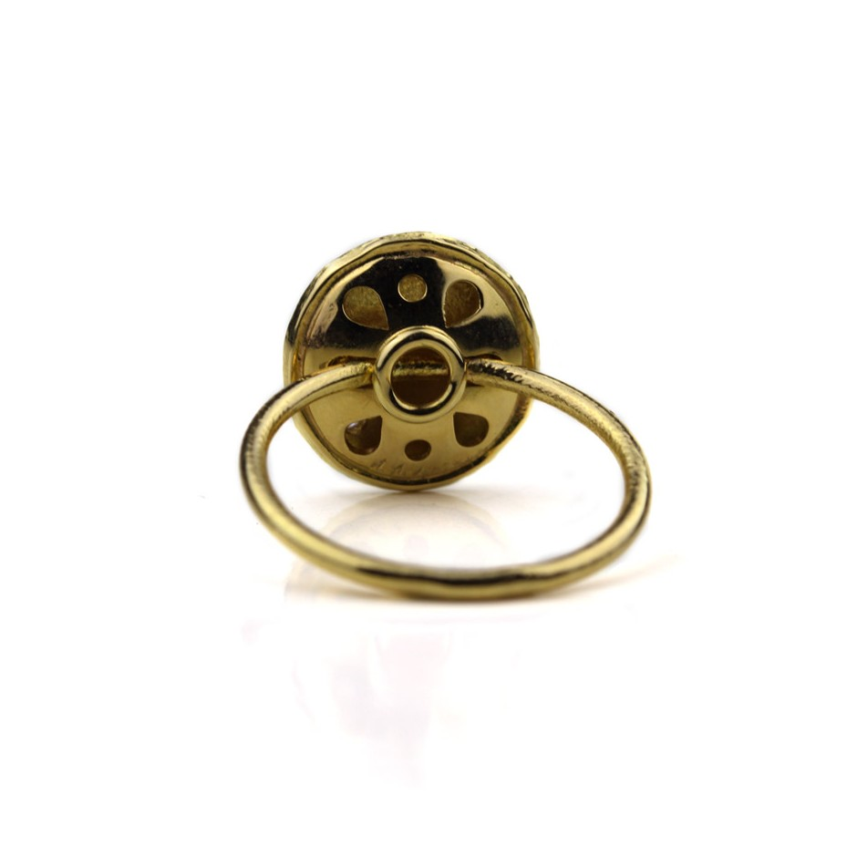 Marco Malasomma 48C - Ring - Luna Piena - Yellow gold and diamond
