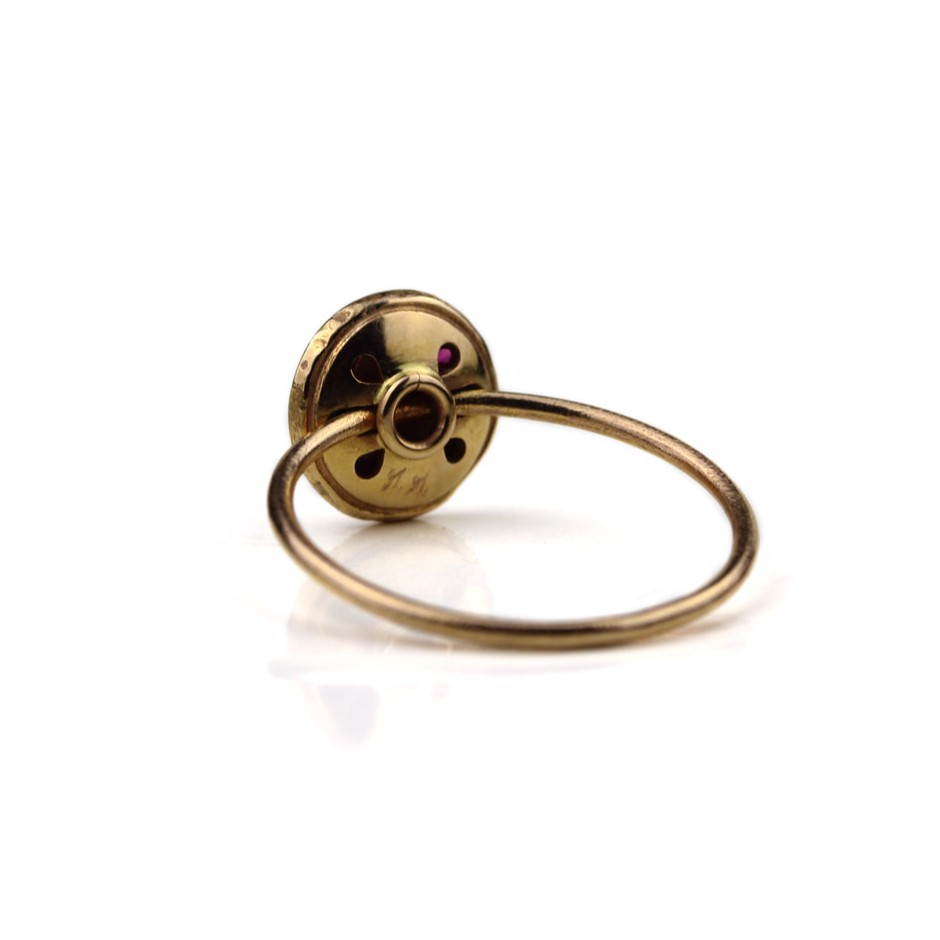 Marco Malasomma 49C - Ring - Luna Piena - Rose gold and ruby