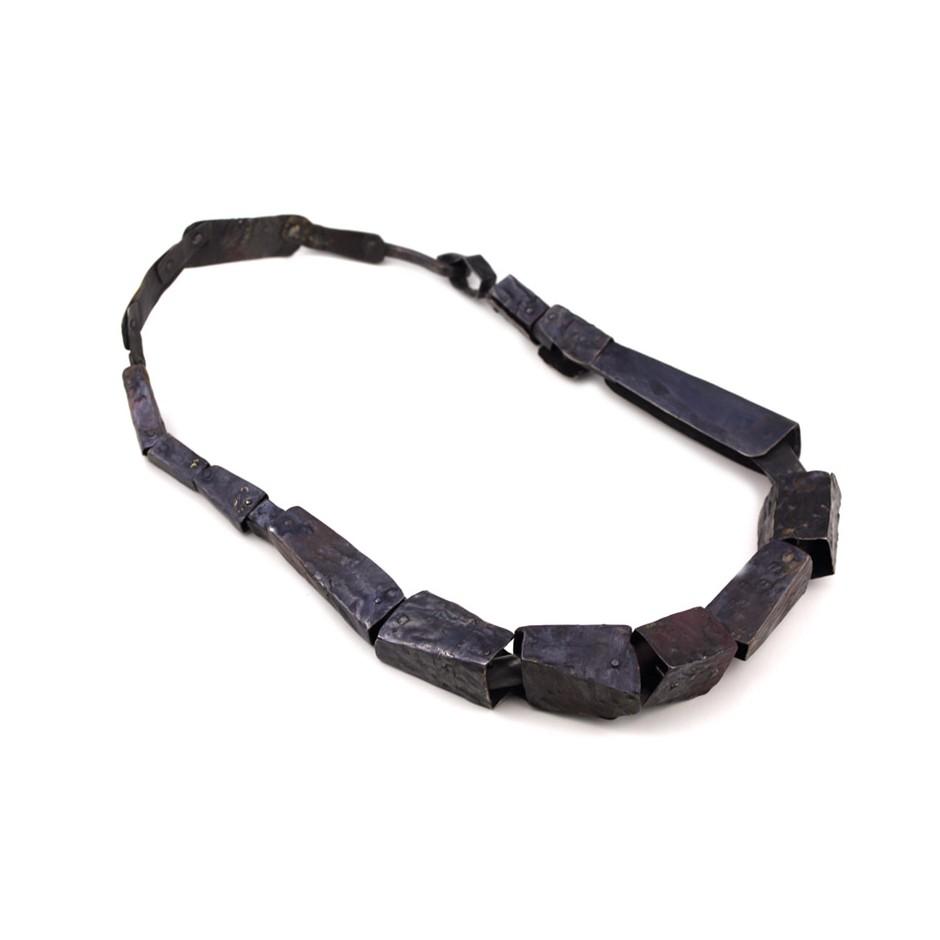 Dina Abargil 20B - Necklace - Shibuichi, oxidized silver