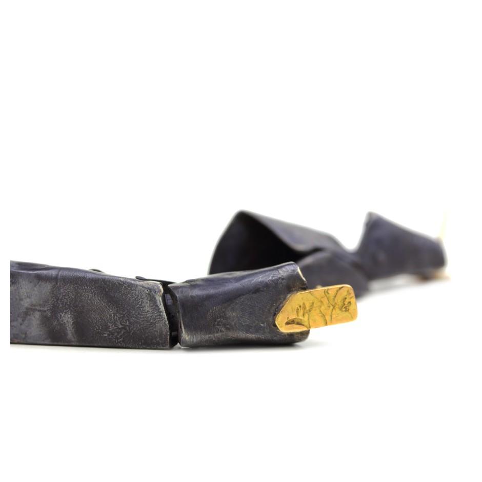 Dina Abargil 23D - Earrings - Shibuichi, oxidized silver and yellow gold