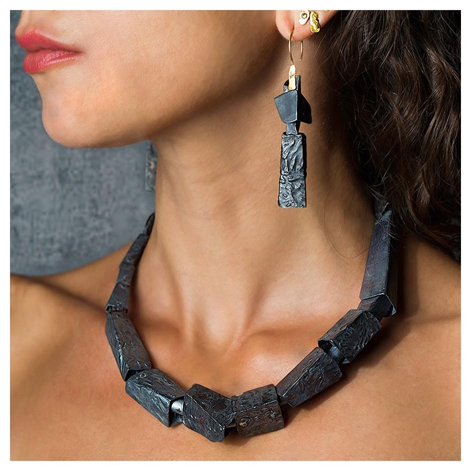 Dina Abargil 20G - Necklace - Shibuichi, oxidized silver