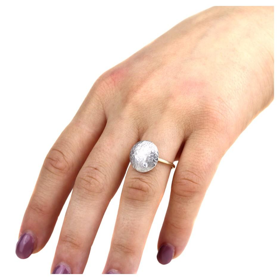 Marco Malasomma 47D - Ring - Luna Piena - Platinum, white gold and diamond