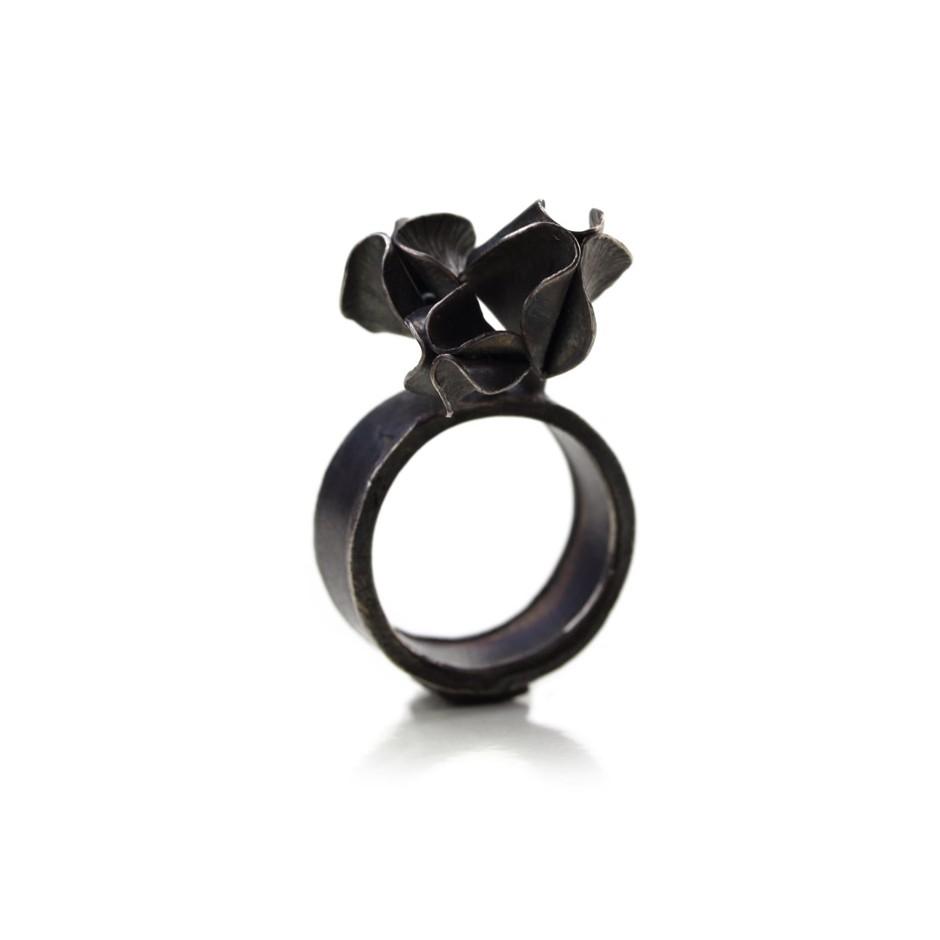 Ute Kolar 28A - Ring - Oxidized silver