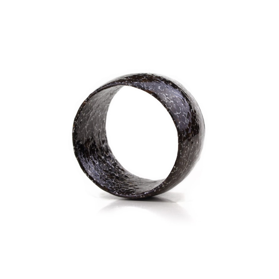 Francesca Antonello 01C - Bracelet - Beyond the skin II - cherry wood, walnut wood, aluminium foam, silver and steel