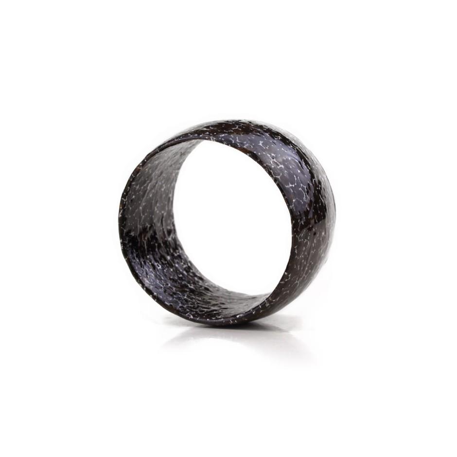 Francesca Antonello 01C - Bracelet - Beyond the skin II - cherry wood, walnut wood, aluminium foam, silver and steel