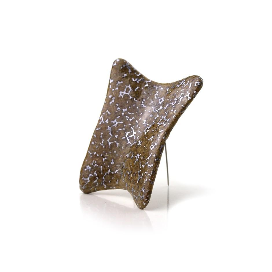 Francesca Antonello 07B - Brooch - Beyond IX - Douglas wood, aluminium foam, silver, steel