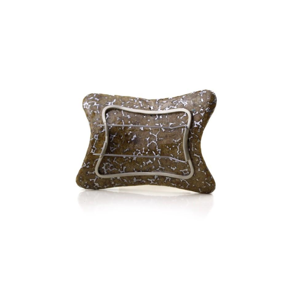 Francesca Antonello 07C - Brooch - Beyond IX - Douglas wood, aluminium foam, silver, steel