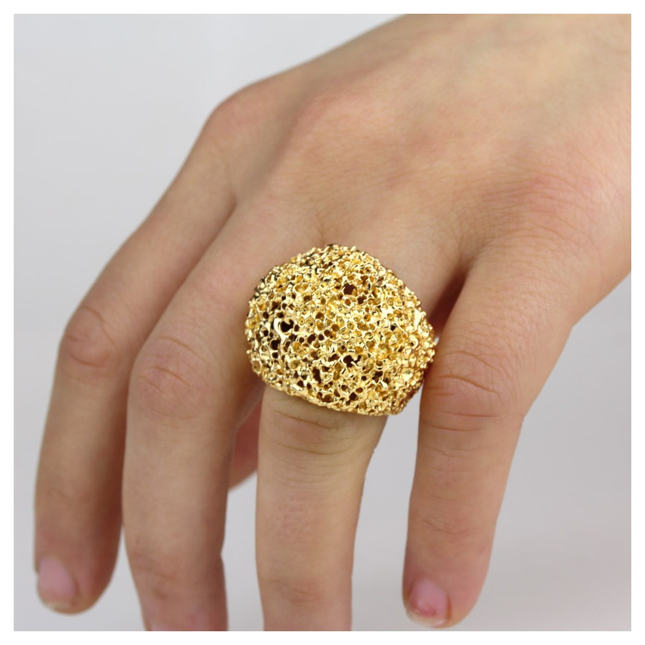 Barbara Uderzo 25G - Rings - Ottoni - Brass, galvanic finish in yellow gold and white or black rhodium.