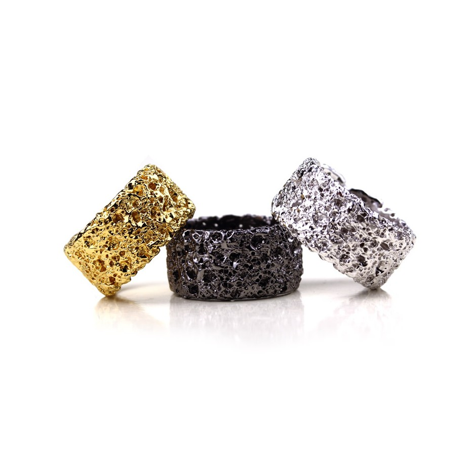 Barbara Uderzo 26A - Rings - Ottoni - Brass, galvanic finish in yellow gold and white or black rhodium