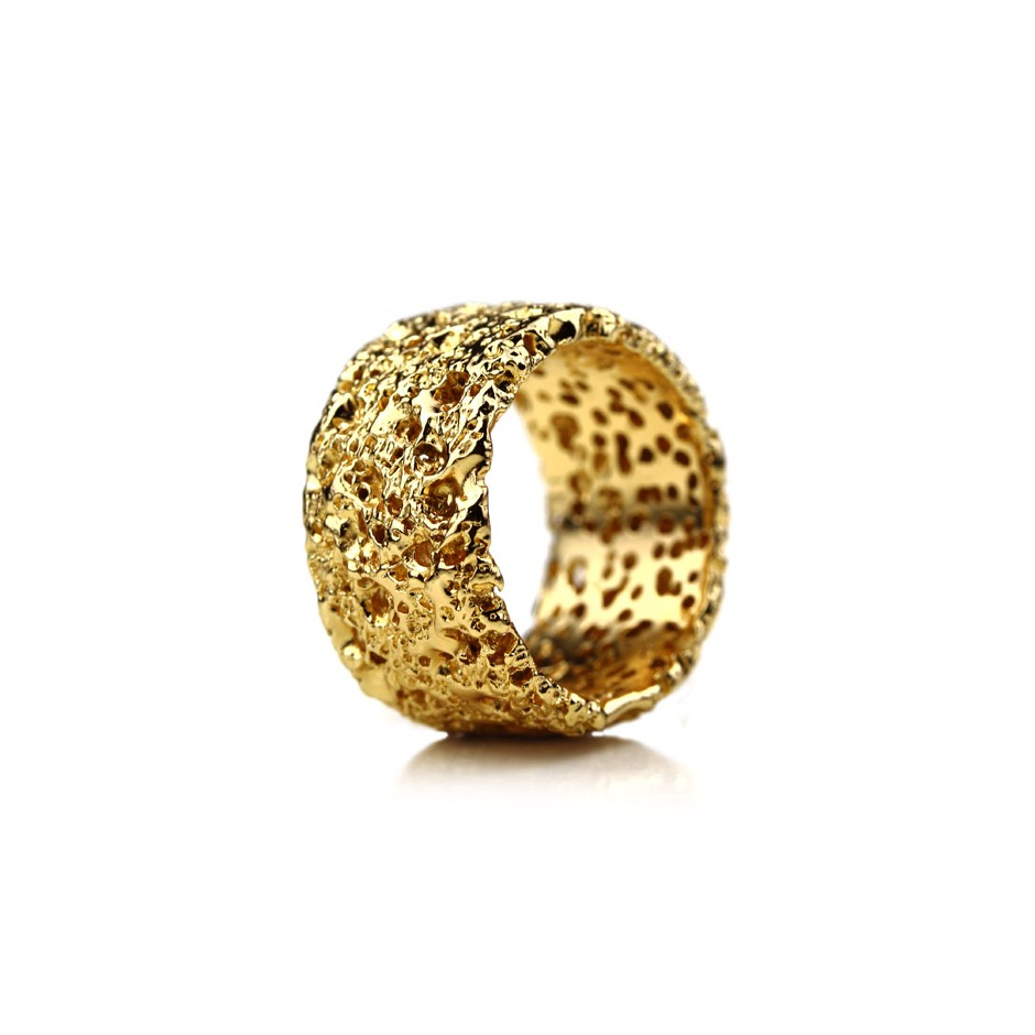 Barbara Uderzo 26D - Rings - Ottoni - Brass, galvanic finish in yellow gold and white or black rhodium