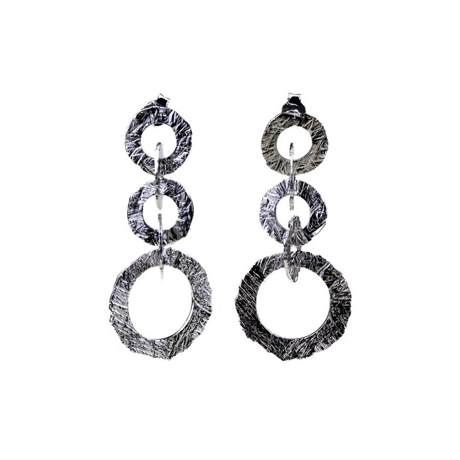 Barbara Uderzo 28C - Earrings - Ottone - Brass with galvanic finish in white or black rhodium