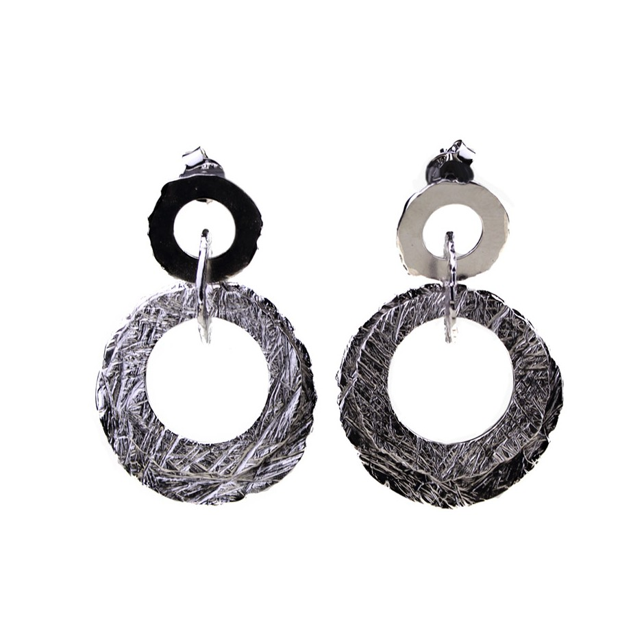 Barbara Uderzo 30B - Earrings - Ottone - Brass with galvanic finish in white or black rhodium