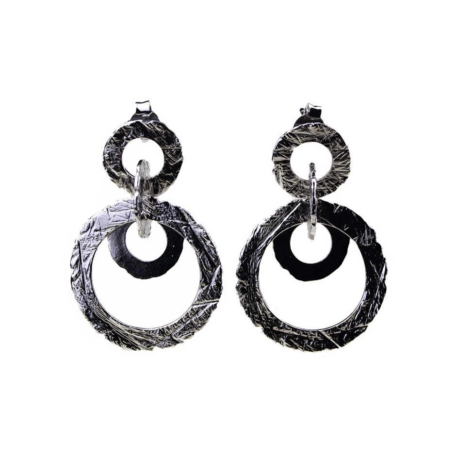 Barbara Uderzo 31B - Earrings - Ottone - Brass with galvanic finish in white or black rhodium